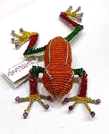 Orange Beadworx Tree Frog