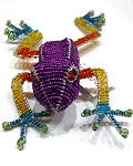Purple Beadworx Tree Frog