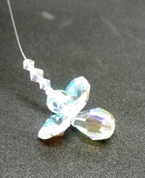 Blue Violet Crystal Angel