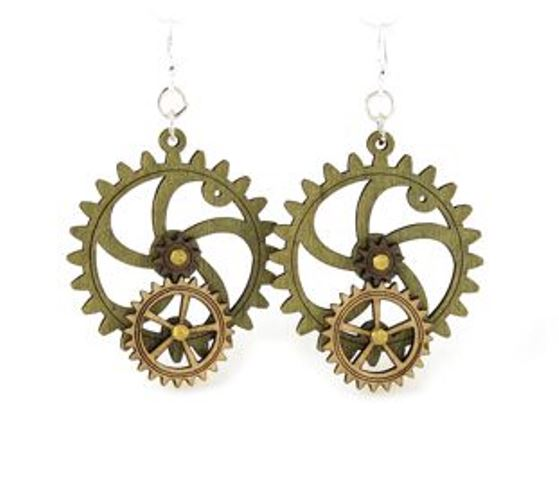 GreenTree kinetic earrings - BigLittle Gear, C
