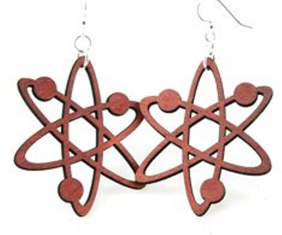 GreenTree earrings - Red Atom