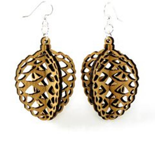 GreenTree earrings - Pinecone