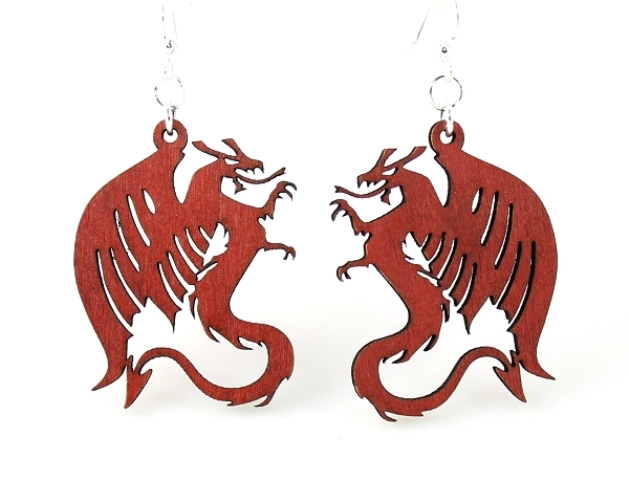 GreenTree earrings - Red Dragon
