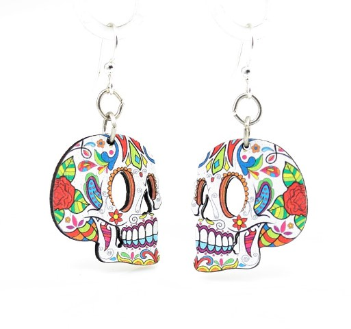 GreenTree earrings - Sugar Skull