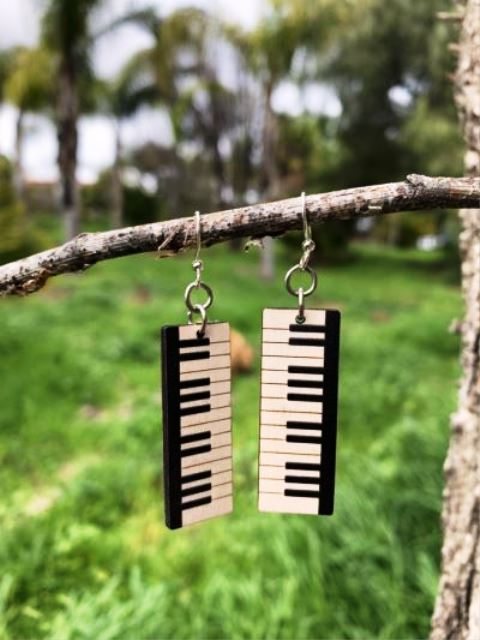 GreenTree earrings - Piano Keyboard
