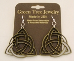 GreenTree earrings - Trinity Knots, AG
