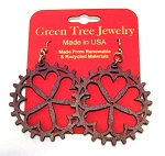 GreenTree earrings - Flower Wheel, P