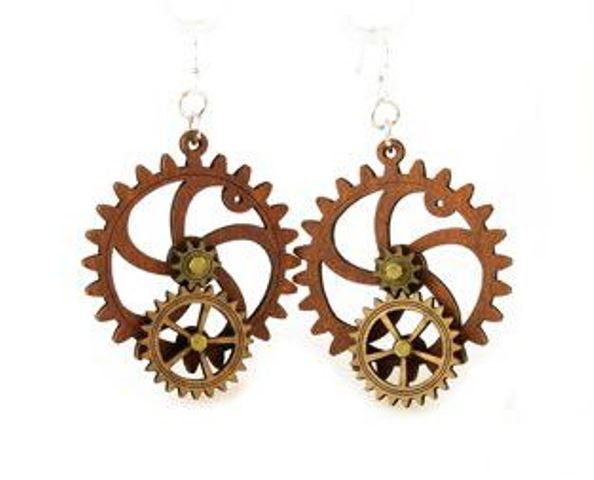 GreenTree kinetic earrings - BigLittle Gear, E