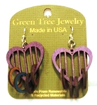 GreenTree earrings - Heart Rings