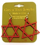 GreenTree earrings - Jewish Star, CR