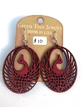 GreenTree earrings - Phoenix, burgundy