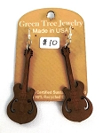 GreenTree earrings - Electric Guitar, tan
