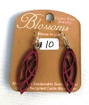 GreenTree earrings - Blossoms design 119, purple