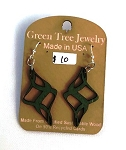 GreenTree earrings - Diamond Swirl, green