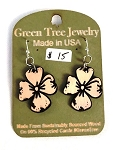 GreenTree earrings - Dogwood, natural