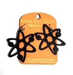 GreenTree earrings - Black Atom