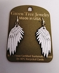 GreenTree earrings - Angel Wings, white
