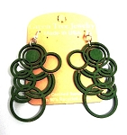 GreenTree earrings - MultiCircles, green