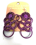 GreenTree earrings - MultiCircles, purple