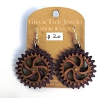 GreenTree kinetic earrings - 2 Gears D, purple