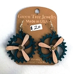 GreenTree kinetic earrings - Propeller G