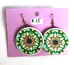 Mandala Image Earrings by Laura Wilde