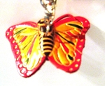 Leather Butterfly B Key Ring