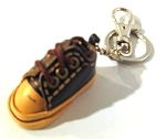 Leather Sneaker Key Ring, blue