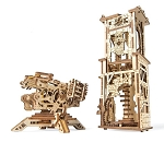 Wooden Mechanical Archballista Tower Kit by Ugears