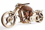 Wooden Mechanical Motorcycle Kit by Ugears