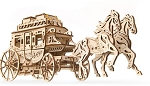 Wooden Mechanical Stagecoach Kit by Ugears