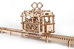 Wooden Mechanical Tram Kit by Ugears