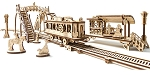 Wooden Mechanical Tram Line Kit by Ugears