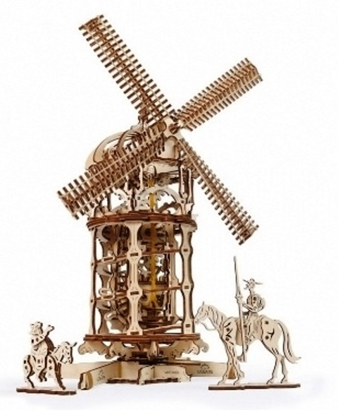 Wooden Mechanical Windmill Kit by Ugears