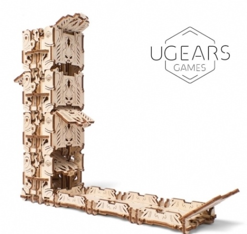 Wooden Mechanical Dice Tower by Ugears
