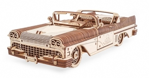 Wooden Mechanical Dream Cabriolet by Ugears