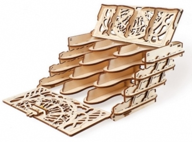 UGears Wooden Mechanical Card Holder