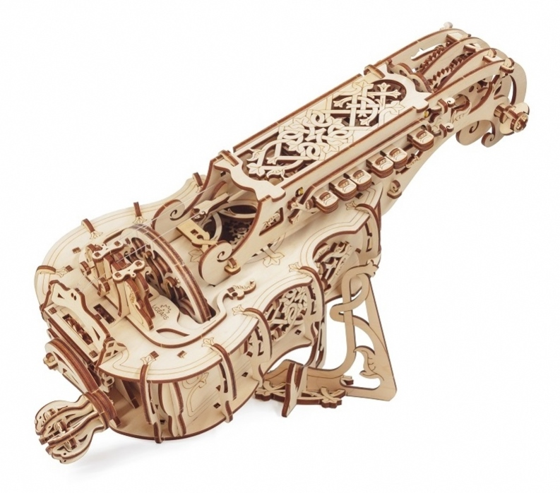 Wooden Mechanical Hurdy Gurdy Kit By Ugears