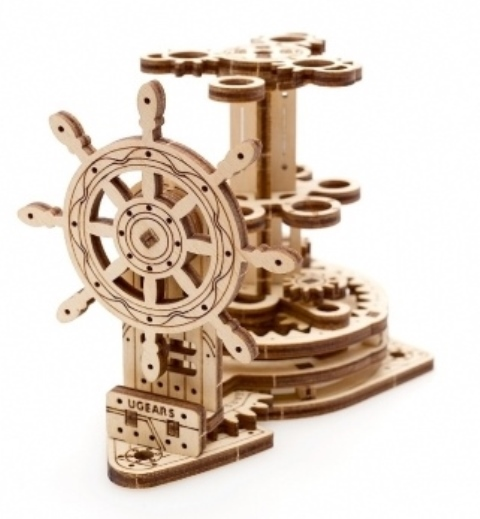 Wooden Mechanical Wheel Organizer by Ugears