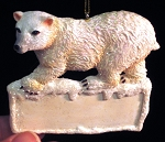 Polar Bear w/ Name Plate Ornament