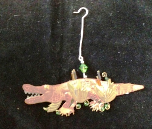 Albert Alligator Metal Ornament