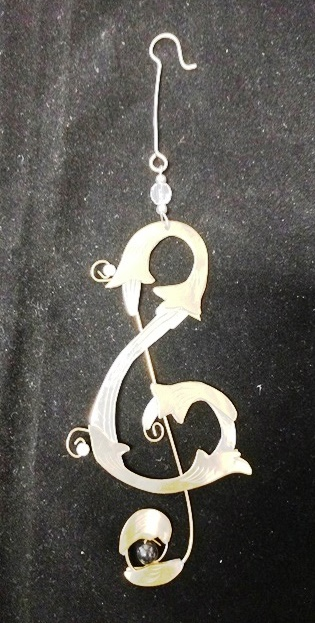 Treble Clef Metal Ornament