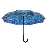 Reverse Umbrella - Van Gogh Irises