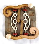 GreenTree Wooden Switch Plates - Double Levers, gray