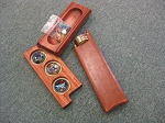 Bubinga wood Kings Ransom 3 mirror kaleidoscope by Henry Bergeson