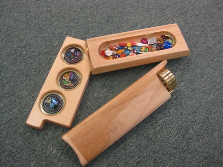 Maple wood Kings Ransom 3 mirror kaleidoscope by Henry Bergeson