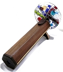Double Wheel Fused Dark Wood Kaleidoscope by Marshall Fisher