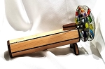 Double Wheel Fused Light Wood Kaleidoscope by Marshall Fisher