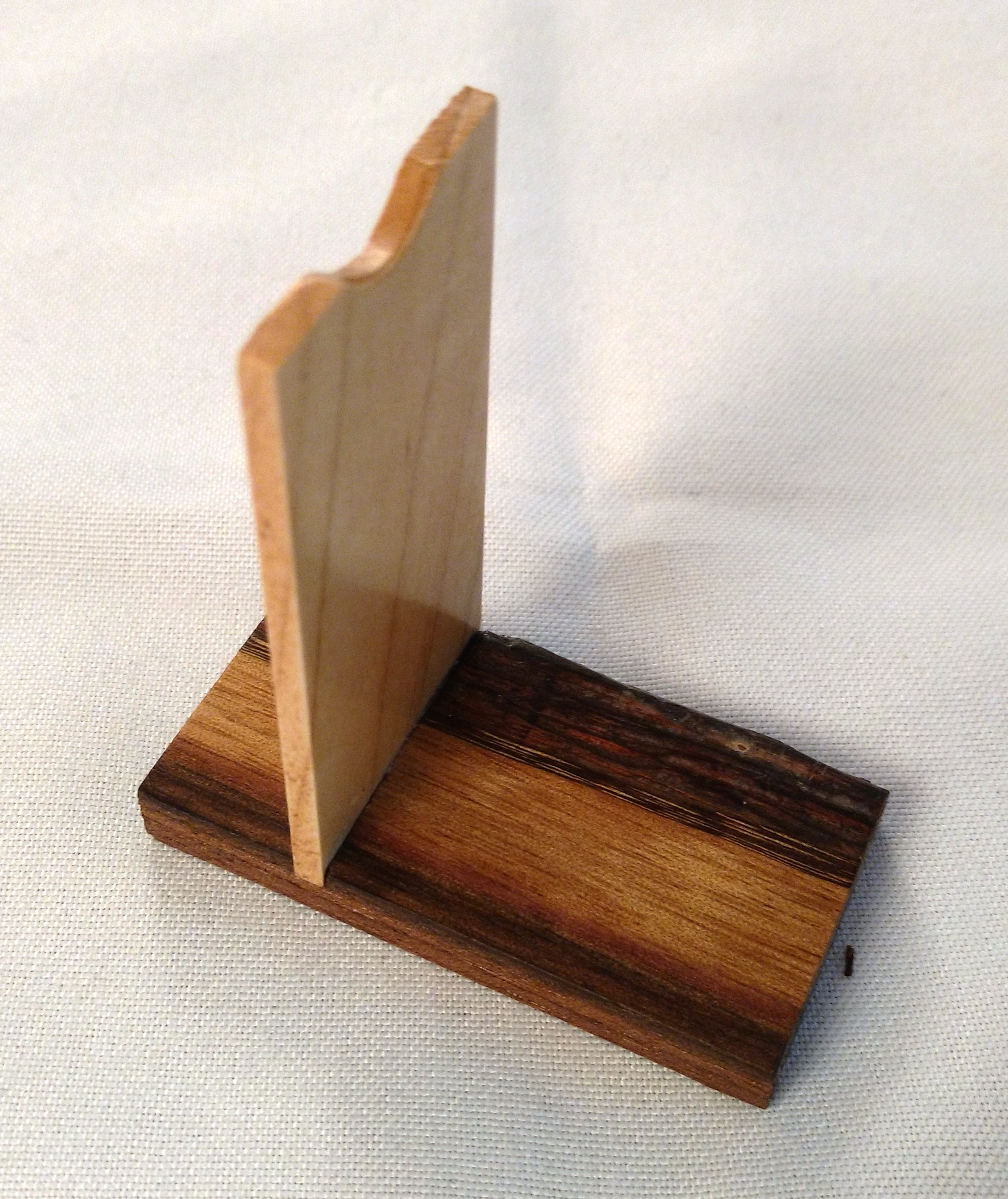 Small Wood stand B for wood tube kaleidoscopes by Dan Land