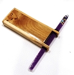 Small Wood Glitter Tube Kaleidoscope B by Dan Land